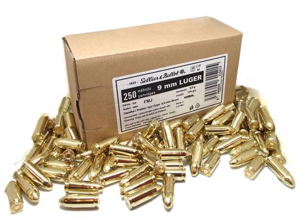 Sellier & Bellot | 9 mm Luger (FMJ, 124 grs, 250 ks)