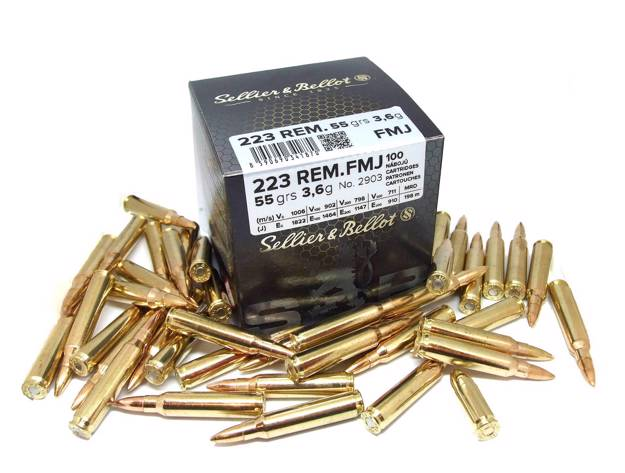 S&B | .223 Remington (FMJ, 55 grs, 100 ks)