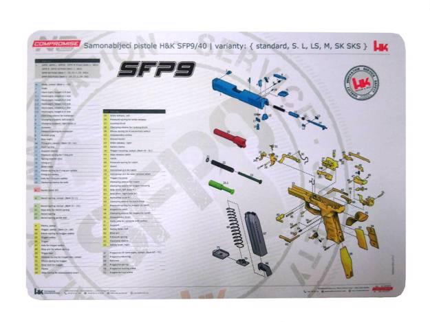 NCH | SFP9 | Zbrojířská podložka
