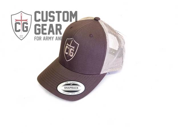 Custom Gear kšiltovka Snapback Mesh Cap (Brown/Khaki)