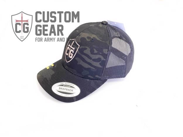 Custom Gear kšiltovka Snapback Mesh Cap (Multicam Black)
