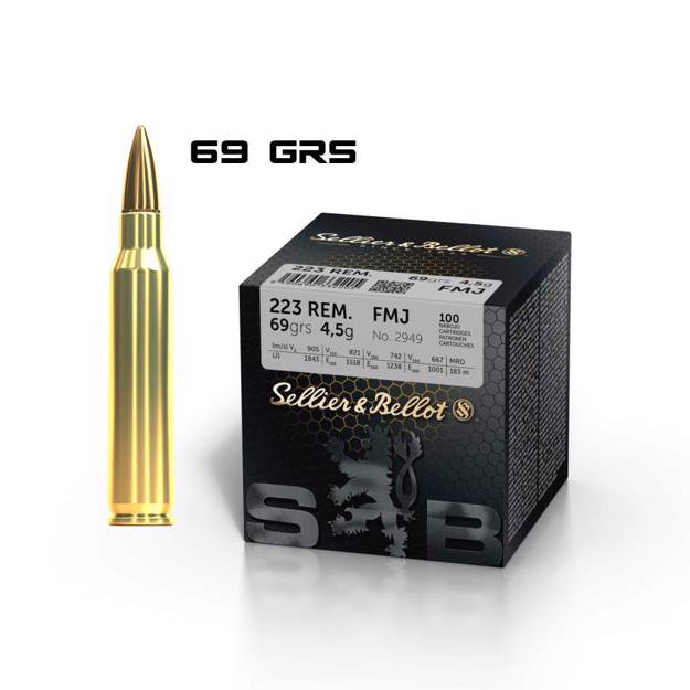 S&B .223 REM (FMJ, 69 grs)